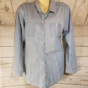 Old Navy Blue Button Down Shirt